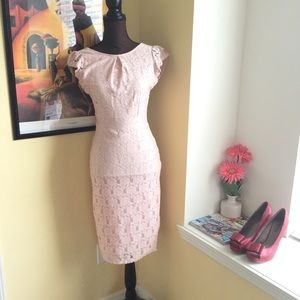 Dorothy Perkins Lace Pink Dress Size 6